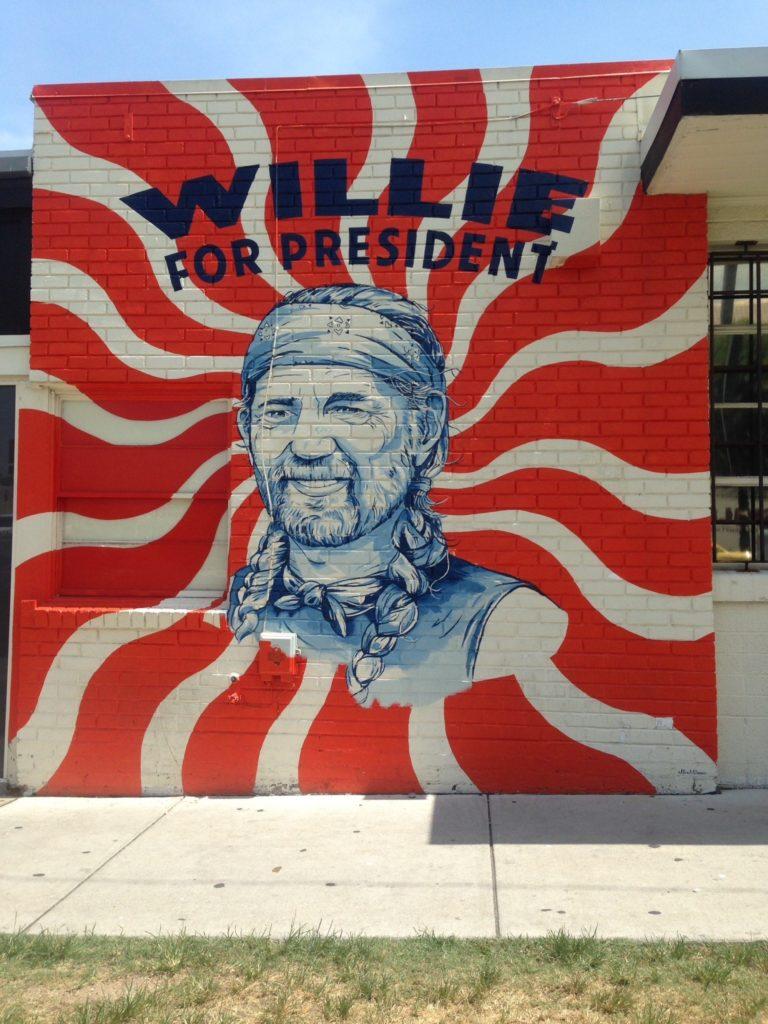 Austin, Texas Willie for President wall